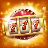 Vecteur de bannière de machine à sous de casino Concept de gros lot de Sevens Objet de rotation Illustration illustration libre de droits