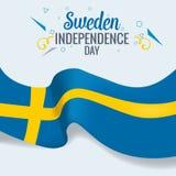Vecteur de bannière ou d'affiche de célébration de jour d'indepedence de la Suède illustration stock