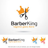 Vecteur de Barber King Logo Template Design Illustration Stock