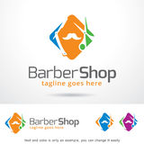 Vecteur de Barber Shop Logo Template Design Images libres de droits