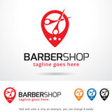 Vecteur de Barber Shop Logo Template Design Illustration Stock