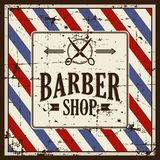 Vecteur de Barber Shop Sign Signage de raseur-coiffeur illustration de vecteur