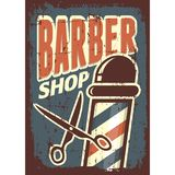 Vecteur de Barber Shop Sign Signage de raseur-coiffeur Photo stock