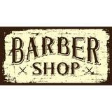 Vecteur de Barber Shop Sign Signage de raseur-coiffeur illustration de vecteur