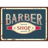 Vecteur de Barber Shop Sign Signage de raseur-coiffeur Photographie stock libre de droits