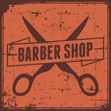 Vecteur de Barber Shop Sign Signage de raseur-coiffeur Photos libres de droits