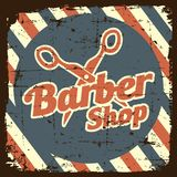 Vecteur de Barber Shop Sign Signage de raseur-coiffeur Image stock