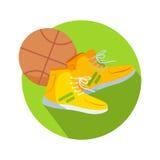 Vecteur de basket-ball de bouton de Web de bottes et de boule du football Images stock