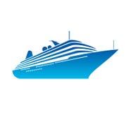 Vecteur de bateau Images libres de droits