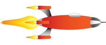 vecteur de bateau de fusée Photos libres de droits