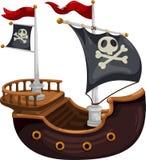 Vecteur de bateau de pirate Photos libres de droits