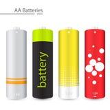 vecteur de batteries d'aa Image stock