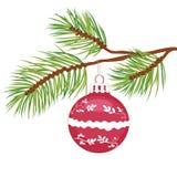 VECTEUR de bille de Noël Images libres de droits