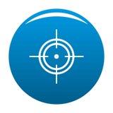 Vecteur de bleu d'icône de but illustration libre de droits