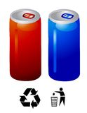 Vecteur de boissons d'énergie Image libre de droits