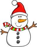 Vecteur de bonhomme de neige de vacances Photos stock