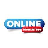 Vecteur de bouton de marketing en ligne Image libre de droits