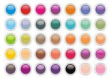 vecteur de boutons Photos libres de droits