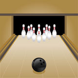 vecteur de bowling Photos libres de droits