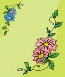 Vecteur de cadre de fleur Images libres de droits