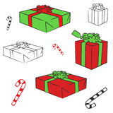 Vecteur de cadres de cadeau Photos stock