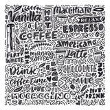 Vecteur de café et de desserts illustration libre de droits