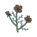 Vecteur de calibre de conception d'illustration de feuille de fleur images libres de droits