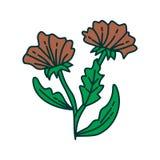 Vecteur de calibre de conception d'illustration de feuille de fleur photographie stock libre de droits
