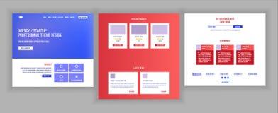 Vecteur de calibre de conception de site Web Fond d'affaires Page Web d'atterrissage Statistiques financières Contexte électroniq Photographie stock