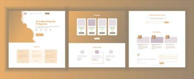 Vecteur de calibre de conception de site Web Fond d'affaires Page Web d'atterrissage Statistiques financières Contexte électroniq Photo libre de droits