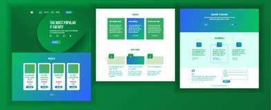 Vecteur de calibre de conception de site Web Fond d'affaires Page Web d'atterrissage Statistiques financières Organisation électr Photos libres de droits