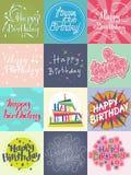 Vecteur de calibre de carte de joyeux anniversaire Photo libre de droits