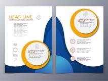 Vecteur de calibre de conception de brochure d'affaires et de technologie Images stock