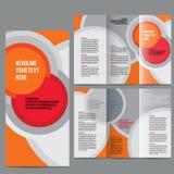 Vecteur de calibre de conception de brochure triple illustration de vecteur