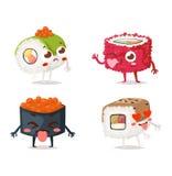 Vecteur de caractère de sushi Photographie stock