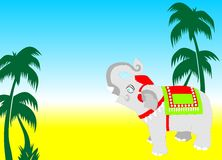Vecteur de carte d'éléphant Image stock