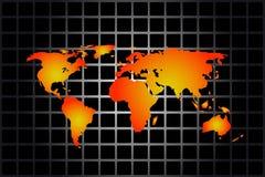 Vecteur de carte du monde illustration stock
