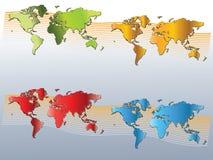 Vecteur de carte du monde Photo libre de droits