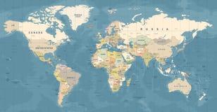 Vecteur de carte du monde Illustration détaillée de worldmap illustration stock