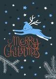 Vecteur de carte de voeux de Joyeux Noël Images stock