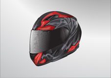 Vecteur de casque de moto Photos stock