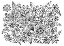 Vecteur de cercle de griffonnage de fleur Images stock