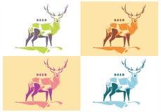 Vecteur de cerfs communs Photographie stock