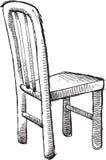 Vecteur de chaise de griffonnage Images stock