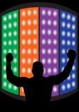 vecteur de champion de boxe Images stock
