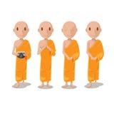Vecteur de Character Isolate Set de moine de l'Asie illustration libre de droits