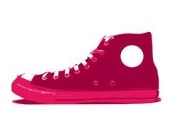 vecteur de chaussure de convers Image stock