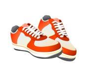 Vecteur de chaussures de gymnastique de tennis Photographie stock