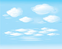 Vecteur de ciel bleu et de nuages blancs illustration de vecteur