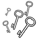 vecteur de clés Image libre de droits